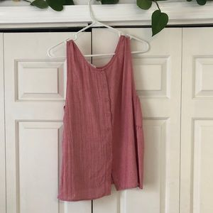 Flowy top with back button detail